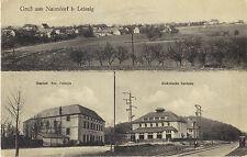 Naundorf bei Leisnig - Gasthof, Elektrische Zentrale, Panorama, Ak von 1918
