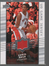 CHRIS BOSH 2008-09 UPPER DECK UD GAME JERSEY CARD #GA-B0