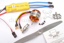 UK 2200kV High Speed Brushless Outrunner Motor + 40A ESC + Prop Kit Combo Planes