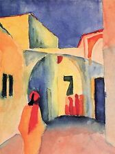 AUGUST MACKE LOOK IN A LANE OLD MASTER ART PAINTING PRINT POSTER 287OMA