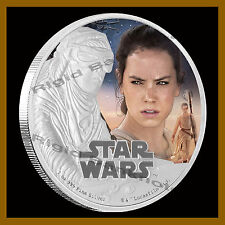 Disney $2 Star Wars The Force Awakens, Rey, 1 Oz Silver Proof Coin Ogp Coa