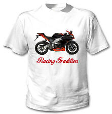APRILIA RS 4125 2012 INSPIRED RACING TRADITION - NEW WHITE COTTON TSHIRT