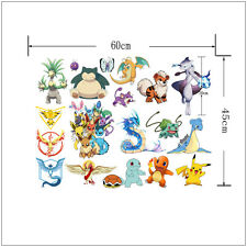 Pokemon Go Wall Sticker Removable Pikachu Decals Vinyl Mural Kids Room Decor DIY