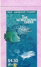1995 AUST STAMP BOOKLET THE WORLD DOWN UNDER 10 x 45c STAMPS CTO GPO MELBOURNE