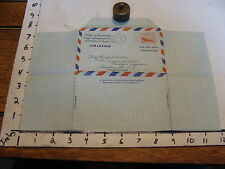 1951 TRAVEL paper: Neat Envelope/letter in one, from California to London