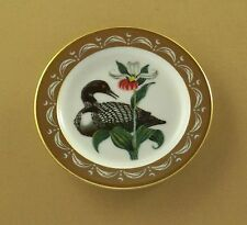 State Birds and Flowers Miniature Plate MINNESOTA Common Loon White Lady Slipper