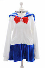 Ta-56 Sailor Moon Cosplay Matrosen weiß Sweatshirt Jacke Lolita Harajuku Japan