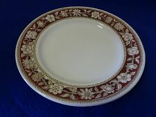 "BROADHURST MADE IN ENGLAND IRONSTONE 9 1/4"" PLATE-WINDSOR-WHITE W. CRANBERRY TRI"