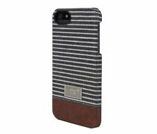 Hex Focus Hard Shell Case Snap Cover for iPhone SE iPhone 5S (Black/Grey Stripe)