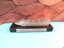 Grand Princess 1998 Inaugural Pewter Model Cruise Ship
