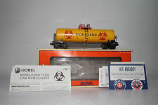 LIONEL #6-16181 BIOHAZARD TANK CAR WITH LIGHTS, EXCELLENT, BOXED