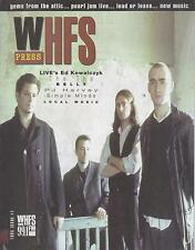 1995 issue of WHFS PRESS magazine  LIVE cover