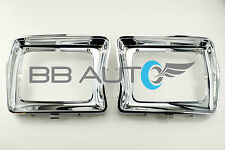 1978-1979 FORD F150 PICKUP TRUCK CHROME HEADLIGHT BEZELS TRIM PAIR RH & LH NEW