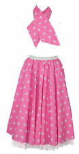 22 inch Adults STAR ROCK AND ROLL 50s Full Circle Skirt & Scarf Set UK