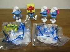 Lot of 6  Smurfs McDonald's Happy Meal Toys Jokey,2 Grouchy,Panicky,Clumsy,Hefty