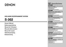 Denon S-302 Home Theater System Owners Manual