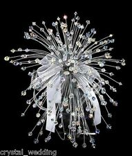 Swarovski  Elements Crystal Wedding Bouquet & buttonhole  - large size