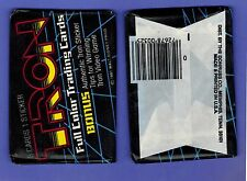 UNOPENED PACK 1981 TRON COLLECTOR CARDS STICKER FROM BOX VIDEO GAME WALT DISNEY