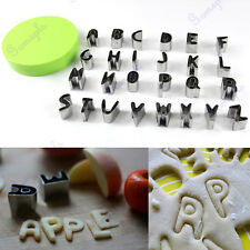 26 Letters Alphabet Cake Cookie Craft Cutter Mold Biscuit Stainless Steel Mould