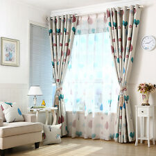 Modern Floral Window Curtain Drape Screen Sheer Valance Blackout Voile Beige