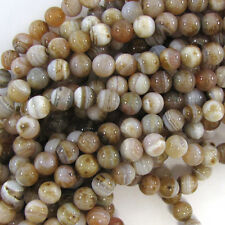 "10mm light pink botswana agate round beads 15"" strand"