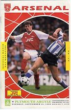 Football Programme, Arsenal v Liverpool. 25 October 1989. Littlewoods Cup