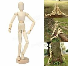 "30cm 12"" Wooden Manikin Movable Limbs Human Mannequin Model For Artist Sketching"