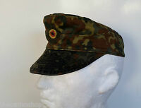 German army bundeswehr flecktarn genuine issued military cap heer peek hat