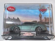 DISNEY PIXAR CARS 2 DISNEY STORE PRINCE WHEELIAM WITH DISPLAY CASE