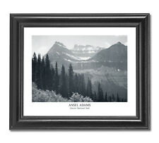 Ansel Adams B/W Photo Glacier National Park #2 Wall Picture Black Framed