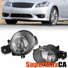 FOR NISSAN ALTIMA ROGUE INFINITI M35 M45 CLEAR FOG LIGHT DRIVING LAMP W/H11 BULB