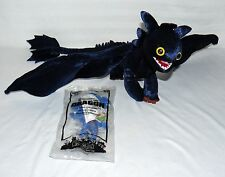 LOT SET OF 2 HOW TO TRAIN YOUR DRAGON TOYS PLUSH TOOTHLESS/ MC DONALDS TOOTHLESS
