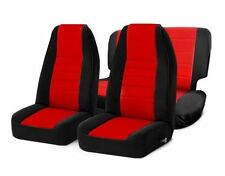 Jeep CJ Wrangler YJ Front and Rear Neoprene Seat Covers Red 76-06 471030