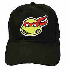 Raphael Teenage Mutant Ninja Turtle Black Adjustable Dad Hat TMNT Cowabunga Red