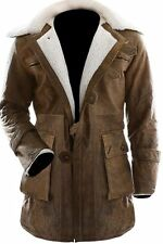 Bane Dark Knight Rises Real Cowhide Distressed Skin Brown Leather Jacket/Coat