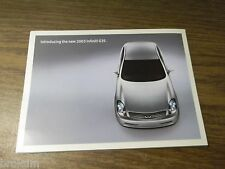 2003 INFINITI G35 SALES BROCHURE MINT M45 , FX45  (BOX 277)