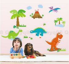 Dinosaur World Wall decal Removable stickers kids nursery decor home art mural
