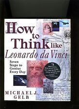 HOW TO THINK LIKE LEONARDO DE VINCI-GELB. 1998. BRAIN POWER CLASSIC. HB/DJ, NR F