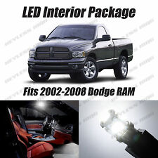 16pcs LED White Lights Interior License Package Kit For Dodge Ram 2002-2008
