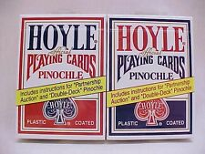 2 Decks Hoyle Standard Pinochle Playing Cards Red & Blue Brand New Decks