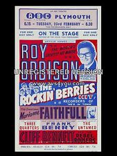 """Roy Orbison Plymouth ABC 16"""" x 12"""" Photo Repro Concert Poster"""