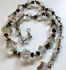 Vintage Art Deco Czech Faceted Glass Bead Necklace