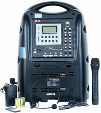 Hisonic HS678 Portable Rechargeable 130 Watt PA System with Dual Microphones