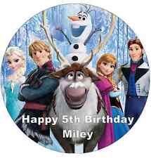 """Topper De Papel De Oblea de Disney Frozen Personalizado Para Pastel Grande Varios Tamaños 7.5"""""""
