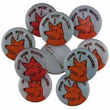 10 x 25mm For Fox Sake! Button Badges Wholesale Price