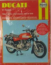 HAYNES WORKSHOP MANUAL for DUCATI V-TWINS, 1971 to 1979
