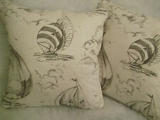 """SPINNAKER BY JANE CHURCHILL 1 PAIR OF 18"""" CUSHION COVERS"""