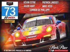 2014 Park Place Motorsports #73 Porsche 911 GT America GTD Rolex TUSC postcard