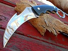 Covert Tactical Combat Gut Hook Karambit Knife Thick Full Tang K-3