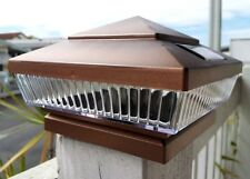 Faux Copper 6 x 6 Outdoor Solar Post Cap Cover Light Entry Walkway 5 LED 78 lum
